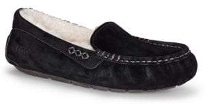 UGG Ansley Faux Fur-Lined Suede Slippers