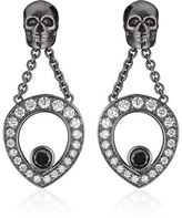 Theo Fennell Black Diamond Skull Drop Earrings