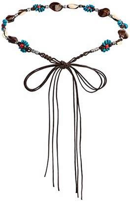 Silver Urbanism Women's Seashell Wooden Bead Braided Fashion Waist Rope ()