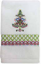 Dena CLOSEOUT! Peppermint Twist Embroidered Fingertip Towel