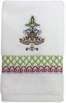 Dena Peppermint Twist Embroidered Fingertip Towel