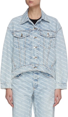 Alexander Wang Logo print crop denim jacket