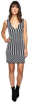 House of Holland Knitted Lurex Stripe Dress