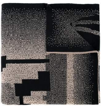 Bernhard Willhelm abstract-pattern knitted scarf