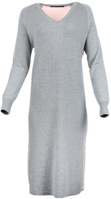 Wool And Silk V-neck Dress