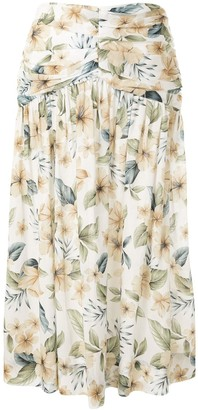 Bec & Bridge Bec + Bridge Fleurette floral midi skirt