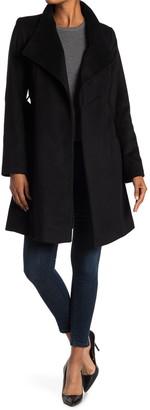 MICHAEL Michael Kors Missy Asymmetrical Belted Wool Blend Coat
