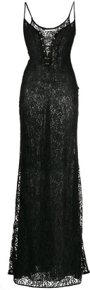 Alessandra Rich Lace Corset-Panel Gown