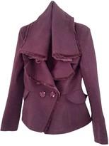 Christian Dior Purple Wool Coat for Women Vintage