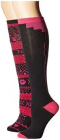 Betsey Johnson 2-Pack Xox Backseam & Betsey Fairisle Knee Highs