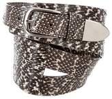 Oscar de la Renta Snakeskin Waist Belt