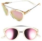 Westward Leaning Women's 'Flower' 51Mm Sunglasses - Black Matte/ X3 Silver