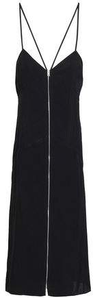 Rag & Bone Open-back Zip-detailed Twill Midi Dress
