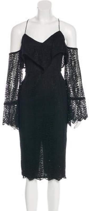 Nicholas Lace Cold-Shoulder Dress w/ Tags Black Lace Cold-Shoulder Dress w/ Tags