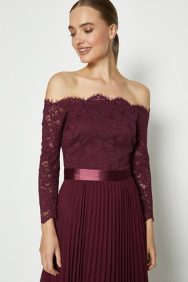 Coast Lace Bodice Bardot Maxi Dress