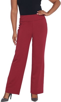 Bob Mackie Regular Length Pontichine Straight Leg Pants