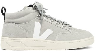 Veja Roraima Suede High-top Trainers - Light Grey