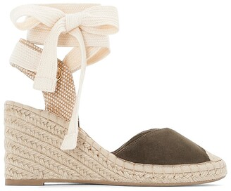 La Redoute Collections Suede Wedge Espadrilles