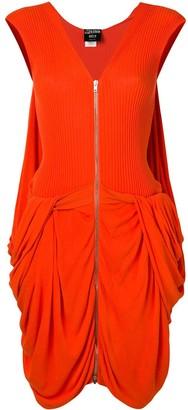 Jean Paul Gaultier Pre Owned Zip Up Draped Dress