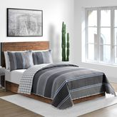 Hunter Quilt Set in Black/Grey