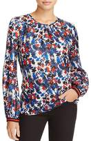 Milly Mandy Floral Print Silk Top