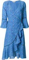 Ganni embroidered ruffle midi dress