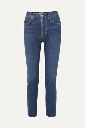 A Gold E Remy High-rise Straight-leg Jeans - Dark denim