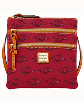 Dooney & Bourke Arkansas Razorbacks Triple-Zip Crossbody Bag