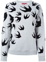 McQ by Alexander McQueen 'Swallow' sweatshirt - women - Polyester/Cotton - XXS