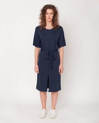 Beaumont Organic Juliet Lou Lyocell Jersey Dress In Midnight - Midnight / Extra Small