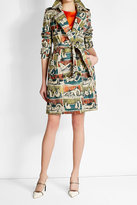 Burberry Printed Cotton Trench Coat