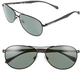 BOSS Men's Polarized 60Mm Sunglasses - Matte Black