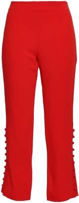 Cinq à Sept Button-detailed Stretch-crepe Straight-leg Pants