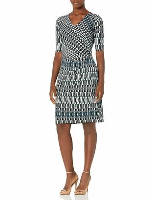 Nic+Zoe Women's Batik Stripe Twist Dress