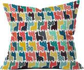 Deny Designs Sharon Turner Baby Llamas Indoor/Outdoor Throw Pillow