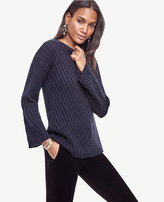 Ann Taylor Stitched Bell Sleeve Sweater