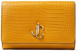 Jimmy Choo Leather Croc-Embossed Varenne Clutch Bag