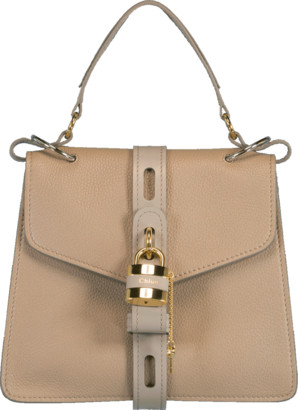 Chloé Grey Small Aby Lock Bag