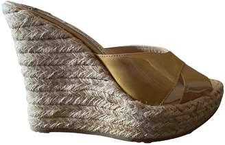 Jimmy Choo Beige Patent leather Espadrilles