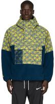 Nike Blue and Yellow Fleece ACG Anorak Jacket