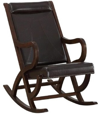 Darby Home Co Jessia Rocking Chair Fabric: Brown