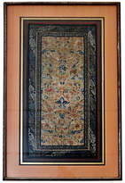 One Kings Lane Vintage 19th-C. Framed Embroidered Silk Panel
