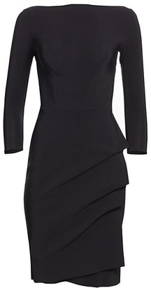 Chiara Boni Cassandre Wrap-Effect Boatneck Dress
