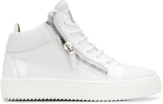Giuseppe Zanotti Side Zip Logo Sneakers