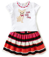 Kate Spade Baby Girls 12-24 Months Chihuahua Top & Striped Skirt Set