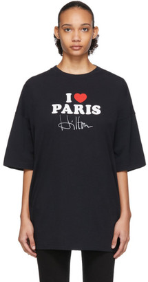 Vetements SSENSE Exclusive Black I Love Paris T-Shirt