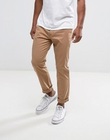 Hollister Skinny Fit Chinos In Tan