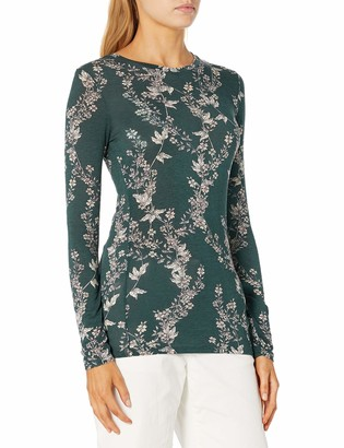 BCBGMAXAZRIA Women's Floral Bloom Top