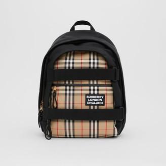 Burberry Medium Vintage Check Panel Nevis Backpack
