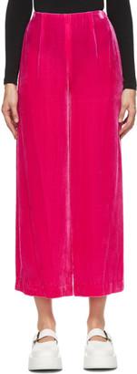 Enfold Pink Velvet Wide Leg Lounge Pants